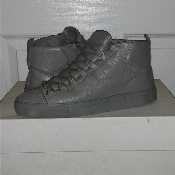 Balenciaga Arena Grey Leather